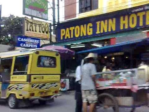 Таиланд, Пукет: Патонг, набережная, вид с моря. День