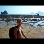 Необычный отлив в Андомандском море Таиланда.